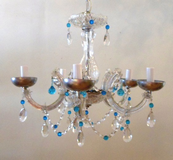 Crystal, Clear and Blue Crystal Chandelier