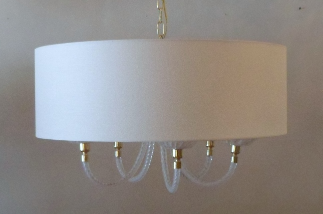 Murano Vintage Glass Lampshade Pendant Light
