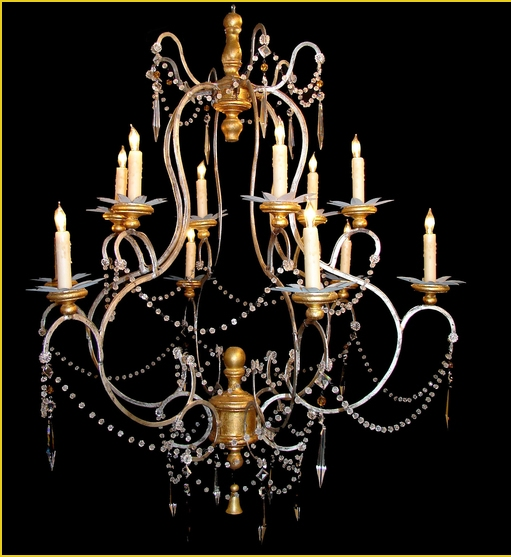 Tuscan Style Crystal Beads Chandelier