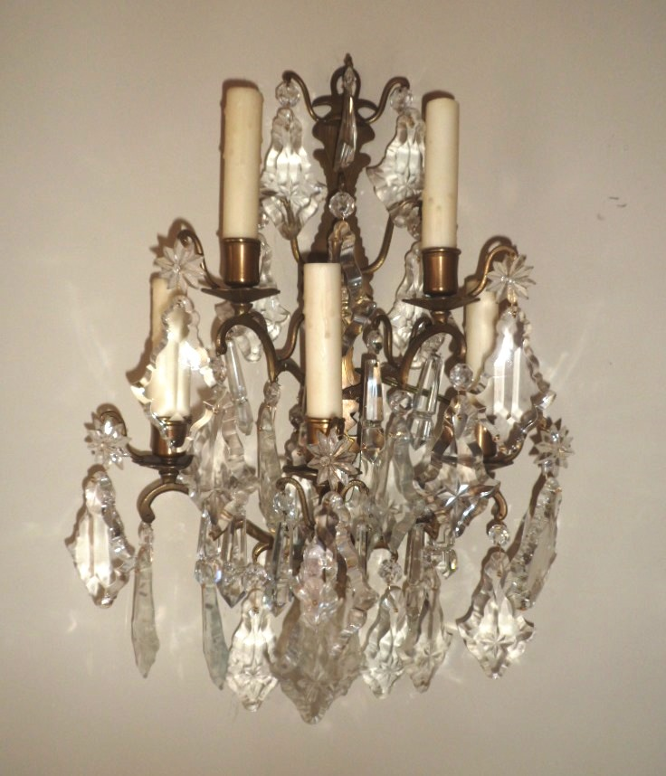 Crystal Antique Wall Sconce